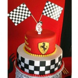 Checkered Flag Ferrari Birthday Cake