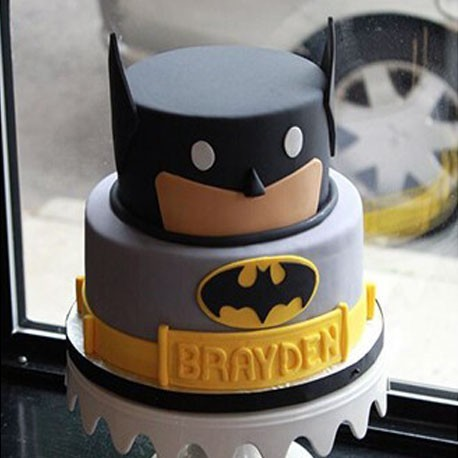 Funny Block Batman Cake