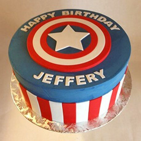 Captain America Clean Shield Cake