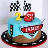 Winners Car Cartoon Cake