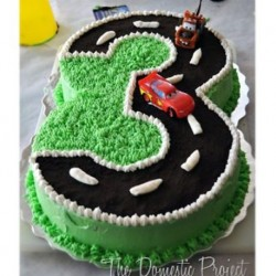 Cars On Racetrack Cake