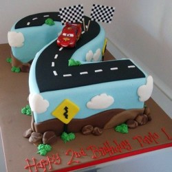 Age 2 Racetrack Cake
