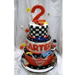 Cartoon Cars Step Cake