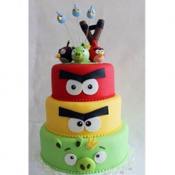 Angry Birds Tiered Cake