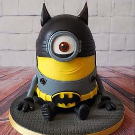 Batman Despicable Me Mashup Cake