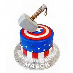 Captain America and Thor Stack Cake