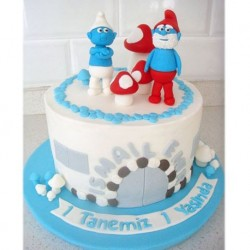 Fun With Smurfs Cake