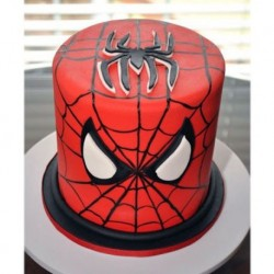 Spiderman Face Mask Cake