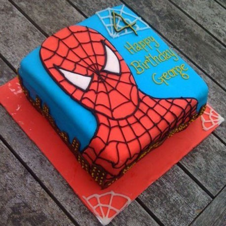 Sensational Spiderman Birthday Cake Personalised Birthday Cards Paralily Jamesorg
