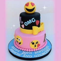 Emoticon Party Birthday Cake