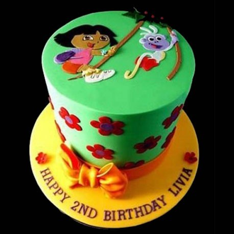 Dora the Explorer Jungle Adventure Cake