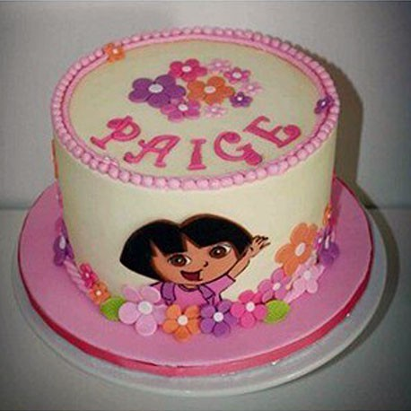 Dora the Explorer Hat Box Cake