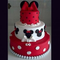 Polka Dots Mickey Mouse Cake