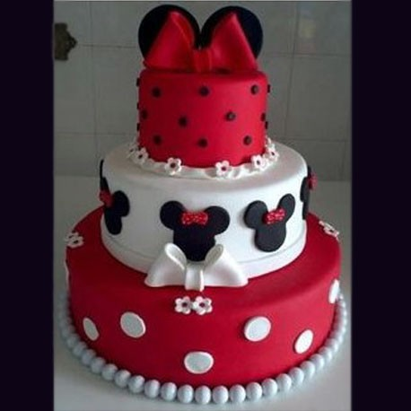 Customized Polka Dots Mickey Mouse Cake