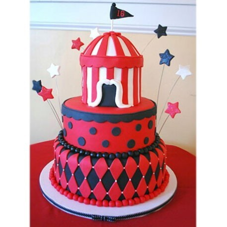 Red Castle Cake