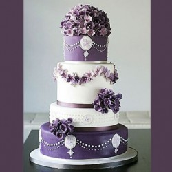 Lavender And White Gem Cake
