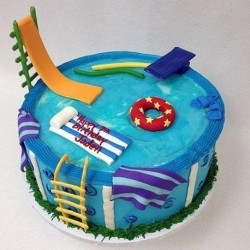 Swimming time cake