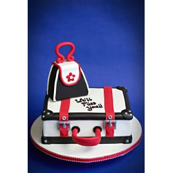 Travel Luggage Ready Farewell Cake