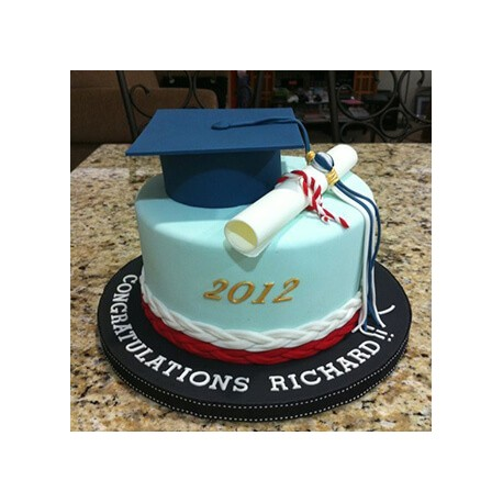 Graduation And Birthday Cake