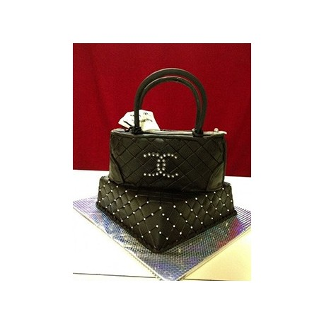 Chanel Elevated Purse Bridal Shower Cake