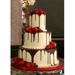 Chocolate Covered Drip Wedding Cake