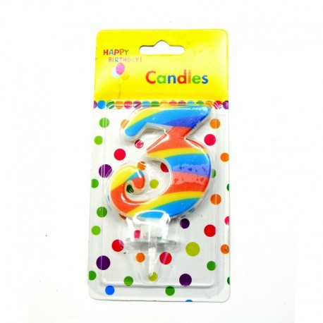 3 Number Candle