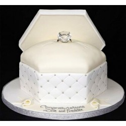 Flowing White Ringbox Cake