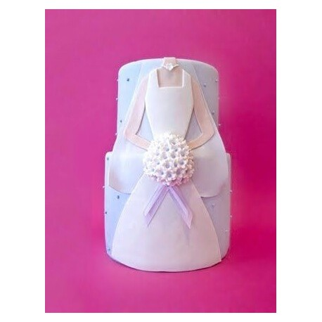 Tiered Gown Bridal Shower Cake