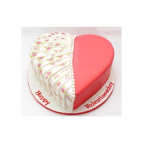 Two Become One Valentine Cake