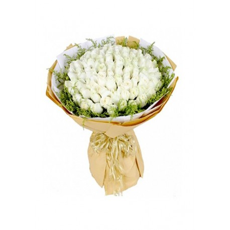 Majestic White Hand Bouquet