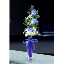 3 Royal Blue Rose