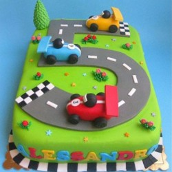 Age 5 Cars Racetrack Cake