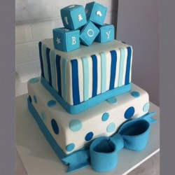 Cubes on top Step Cake