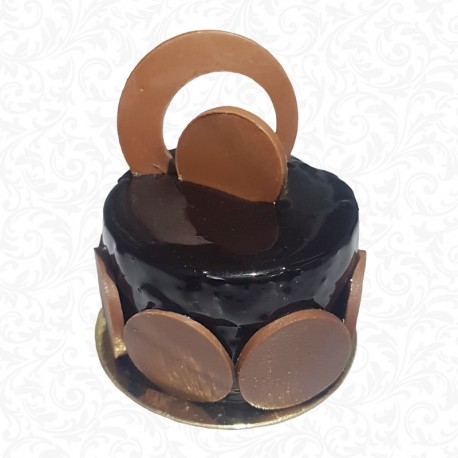 Chocolate Mousse Cake Portion
