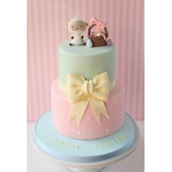 Baby Basket Tiered Cake