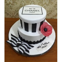 Chanel Boxes Tiered Cake