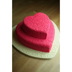 Double the Love Heart Cake
