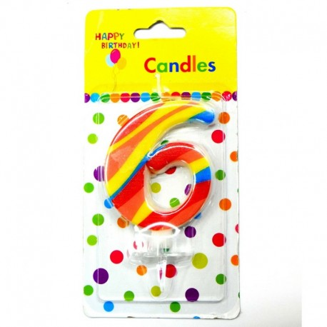 6 Number Candle
