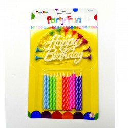 12 Colorful Birthday Candles