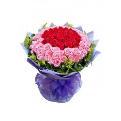 Red & Pink Roses Bouquet